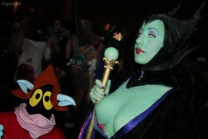 Sexy Malificent ... and Orko by greyloch-md