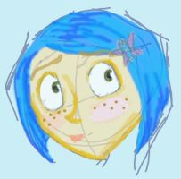 Tablet Sketch Coraline by UnderCoverCottonswab