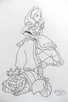 Disney's Alice Mcgee's Outfits inkoutline by Grim-Heaper