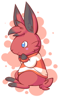 bunny in sweater by Aruesso