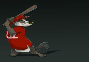 baseball badger by goamerica