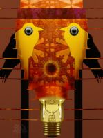 2 Birds Hallucinated as Light bulb by x-pyre12