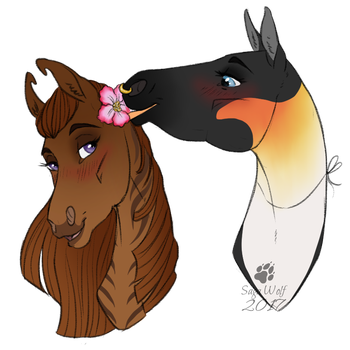 CM || Headshot | Unity and Queen by SagaWolf