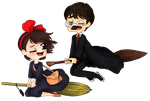Harry and Kiki by BubbleGumPlayer133