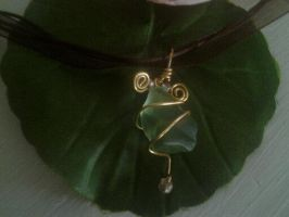 sea glass necklace by halogirlie