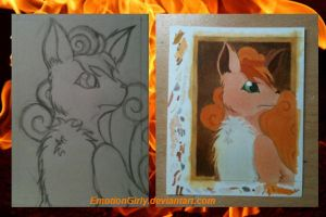 Vulpix in progress by EmotionGirly