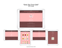 Dolly Tea Time Cafe, ipad view by angelicetherreality