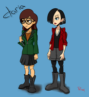 Daria and Jane by ViewtifulJoeX
