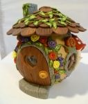 Fairyhouse Candle Holder in Polyclay by wheeter