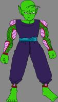 Barefoot Pure-Hearted Piccolo Jr. by DragonBallFan2012