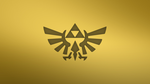 Gold Triforce Wallpaper by Cheetashock