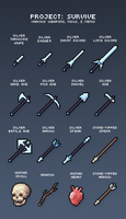Project Survive Items 1 by supahbuttahtoast