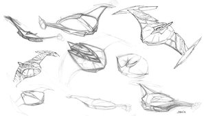Some of the Sketches and Thumbnails of the BOP by Ihlecreations