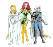 X-Men Anime: Girls by Shiera13
