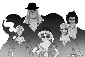 Bearded Mafia Strawhats by msadagal