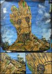 Groot Acrylic 2x2 ft Canvas by artmonkeyd