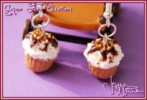 Yummy Cupcake Earrings by Jeyam-PClay