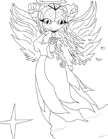 Guardian Angel Cosmo Line Art by bumblebeegirl15