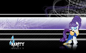 FiM: Rarity Wallpaper 2 by M24Designs
