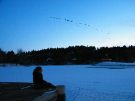 Over a Frozen Lake by eternalsailorpisces