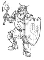 Dwarven Warrior by ArtistMeli