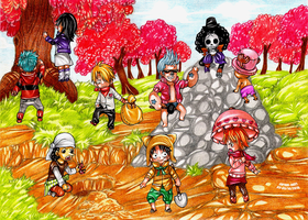 ONE PIECE becomes colorful by Captain--Ruffy