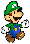 Luigi (Classic)- Super Paper Mario 10th by Fawfulthegreat64