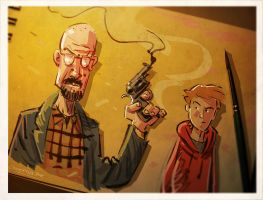 Breaking Bad Sketch by Jovan-Ukropina