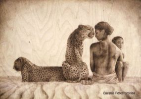 Free copy of Colbert (with cheetahs in the desert) by eugenia-89