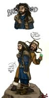 Thorin and Bofur by GoldenInk