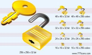 Key and lock Icon by money-icons
