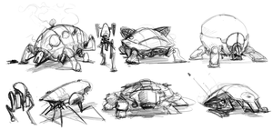 Bug Mech Thumbnails by Erebus88