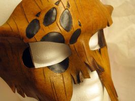 Wolf Hunter Tree Bark Leather Mask by wyldharrt