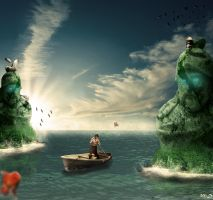 Fishing Surreal by michaeldesigner15