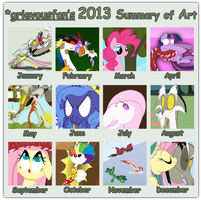 2013: A Whole Year of Pony by grievousfan