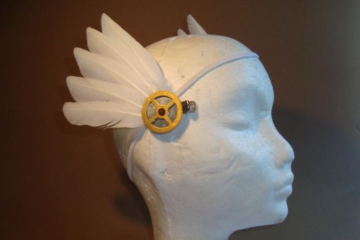 steampunk winged hairclip by rain2shine