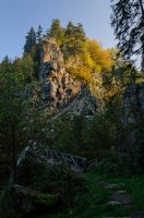 Deep of the river Steinach in Autumn by joachim-hagen
