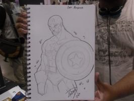 Capt America Sketch Commission by DamageArts