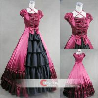 Square Collar Bowtie Ruffled Classic Lolita Dress by wendywei2012
