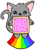 Nyan Cat Charm Design by House-of-Squee