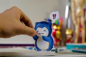 Paper Snorlax by skylerchow