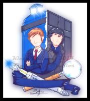 Dr. Who x Sherlock Holmes commission by KPhillips702