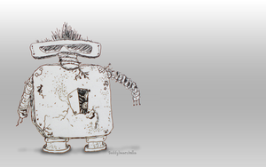 Art, the punk rocker robot wallpaper by teddybearcholla