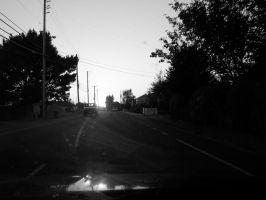 sunset on janes road by mshernock