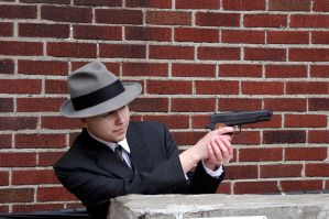 L.A. Noire Cole Phelps Cosplay: Under Fire by LadyofRohan87