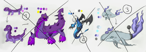 Fakemon Adoptables - Points by Draareg