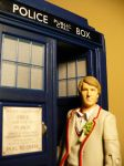 Fifth Doctor and the Tardis by DoctorWhoNC