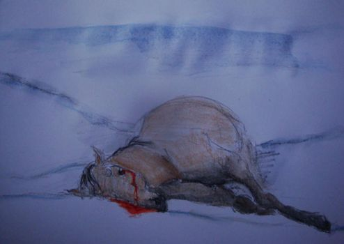 still life with dead horse by leizabel