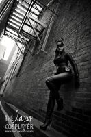 Catwoman-B and W by TheLazyCosplayer