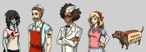 Eat Brains Love - Character lineup by dinomeat